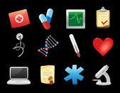Ikoner för medicin — Stockvektor
