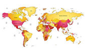 Mappa del mondo — Vettoriale Stock