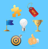 Icons for business metaphor — Stock Vector