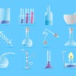 Icons for chemical lab — Stock Vector
