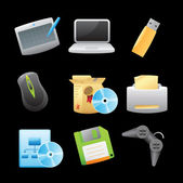 Icons for computer — Stock Vector