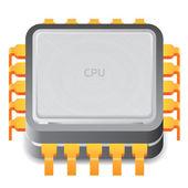 Icon for microprocessor — Stock Vector