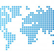 Dotted world map — Vector de stock #13825333