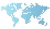 Prickade världskarta — Stockvektor