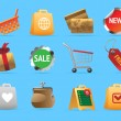 Icons for shopping — Stock Vector
