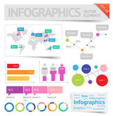 Infographic design elements — Stock Vector
