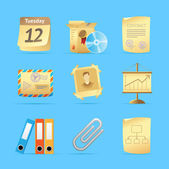 Icons for office — Vecteur