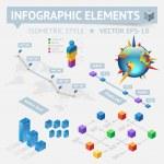 Infographic design elements — Stock Vector
