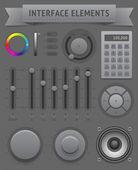 Elementos de la interfaz de usuario — Vector de stock