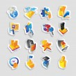 Icons for business and finance — Vettoriali Stock