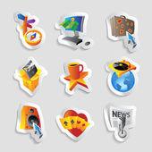 Iconos para el ocio — Vector de stock