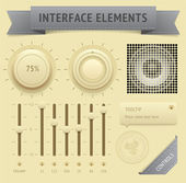 User interface elements — Stock Vector