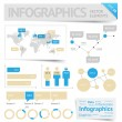 Infographic design elements — Vettoriali Stock