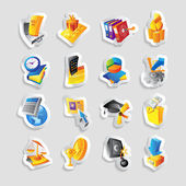 Icons for business and finance — Stock Vector