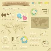 Prvky návrhu Infographic — Stock vektor
