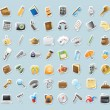 Sticker icons for personal belongings — Imagen vectorial