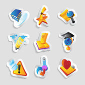 Icons for science — Stock Vector