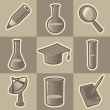 Monochrome science icons — Stock Vector #2744392
