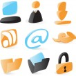 Smooth computer and file icons — Stock Vector #2744515