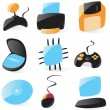 Smooth pc hardware icons — Stock Vector #2801607