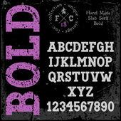Handmade retro font — Stock Vector