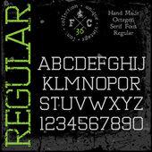 Handgjorda retro teckensnitt — Stockvektor