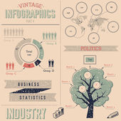 Vintage infographics design elements — Stock Vector