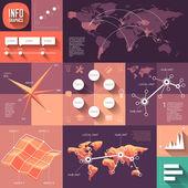 Infográficos do projeto liso com longas sombras — Vetor de Stock