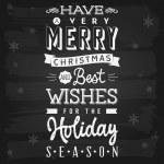 Christmas and Holiday Season Greetings chalkboard — Stock Vector