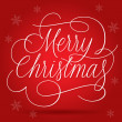 Merry Christmas Greetings Slogan on red background — Imagen vectorial