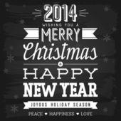Kerstmis en Nieuwjaar groeten — Stockvector