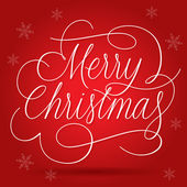 红色背景上的快乐圣诞问候口号 — 图库矢量图片