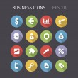 Flat Icons For Business — Stock Vector