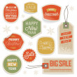 Stickers and Labels for Christmas and New Year — Stock Vector