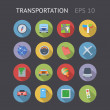 Stock Vector: Flat Icons For Transportation