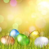 Easter Eggs Background — Stock Vector