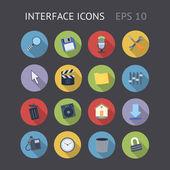 Plats icônes d'interface — Vecteur
