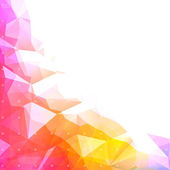 Geometric abstract low poly background — Vettoriale Stock