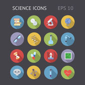 Flat Icons For Science — Stock Vector