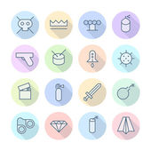 Thin Line Icons For Miscellaneous — Stock Vector