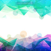 Low-poly infographics background — Stock Vector