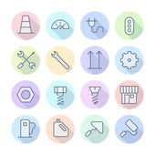 Thin Line Icons For Industrial — Stock Vector