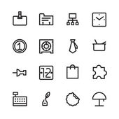 Thin Line Icons For Business and Finance — Wektor stockowy