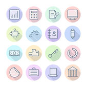 Thin Line Icons For Business and Finance — Stock Vector