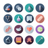 Flat Design Icons For Medical — Stock Vector