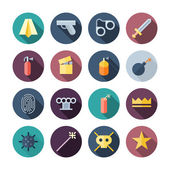 Flat Design Miscellaneous Icons — Stock Vector