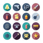 Flat Design Miscellaneous Icons — Stock Vector