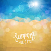 Summer holiday tropical beach background — Stock Vector
