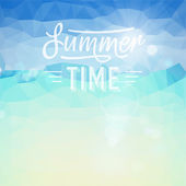 Summer holiday tropical beach background — Vector de stock