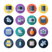 Flat Design Icons For Technology and Devices — Stock Vector